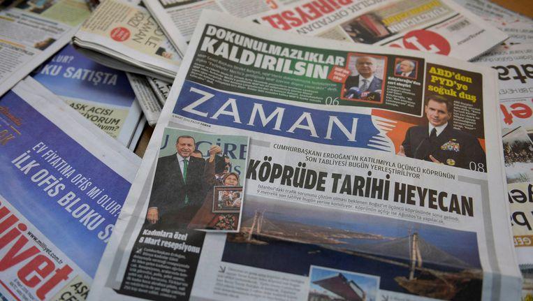 Een Turkse editie van Zaman (foto van 6 maart 2016)