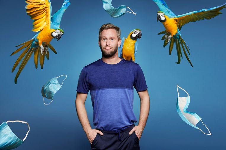 Tim den Besten: 'Bij de eerste uitzending zitten er twee papegaaien in de studio, daar heb ik heel veel zin in.'  Beeld Diederick Bulstra