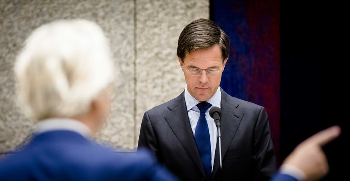 Geert Wilders (PVV) en Premier Mark Rutte