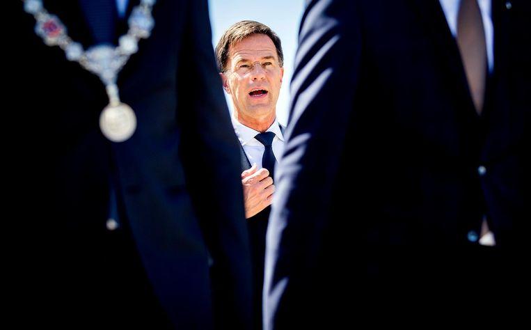 Premier Mark Rutte komt aan bij het Nationaal Monument MH17 Beeld ANP