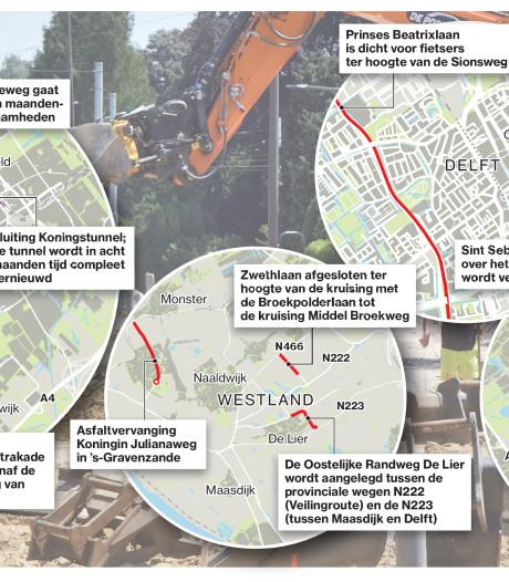 Hier wordt gewerkt aan wegen en tunnels