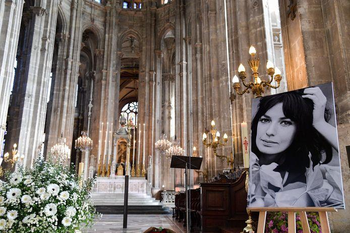 Obsèques de Marie Laforêt en l'église Saint-Eustache à Paris.