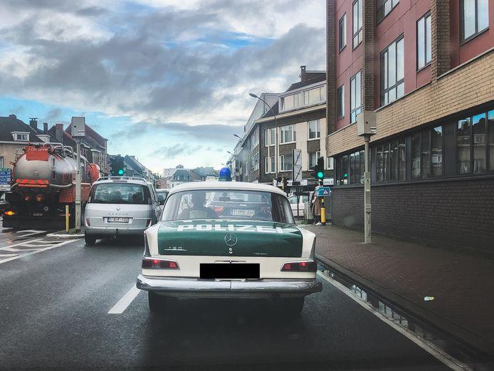 Een Duitse politiewagen uit 1964 maakte een toertje in Gent.
