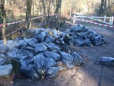 Zakken vol drugsafval gedumpt tussen Ermelo en Harderwijk