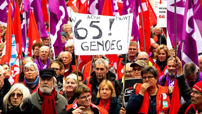 Betogers willen een socialer Nederland.