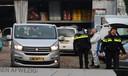 Politie doet onderzoek bij het bedrijfspand aan de Scheldestraat in Oss.
