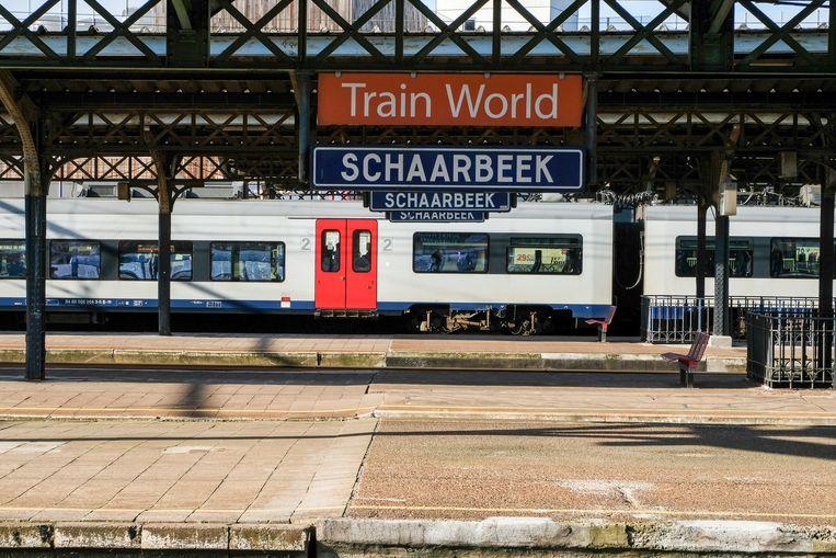 Het station van Schaarbeek.