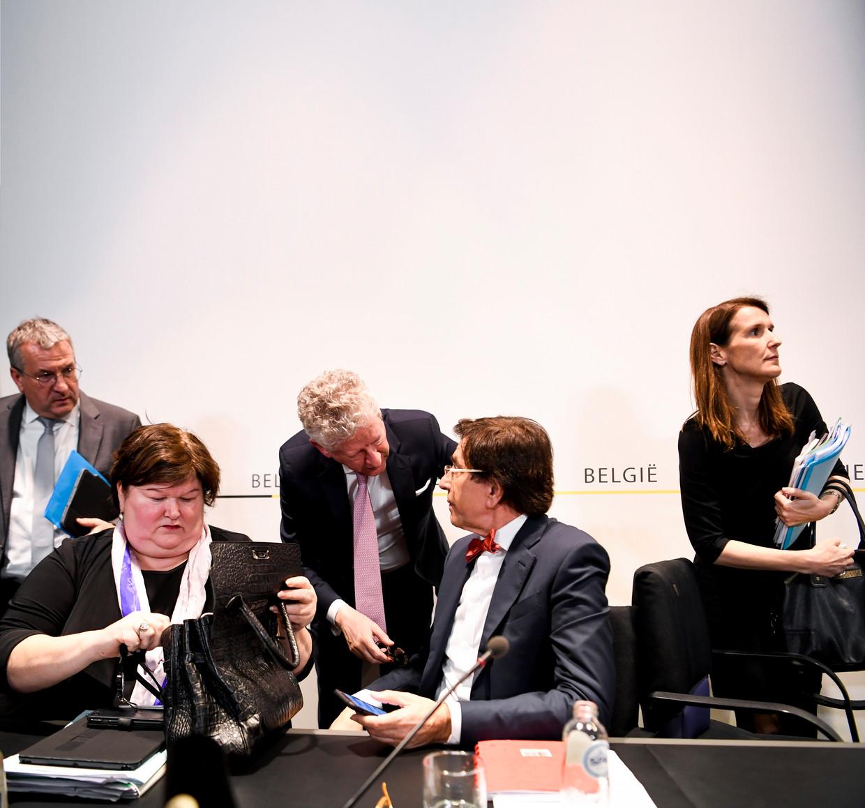 Persconferentie na de Nationale Veiligheidsraad, eerder deze week.
