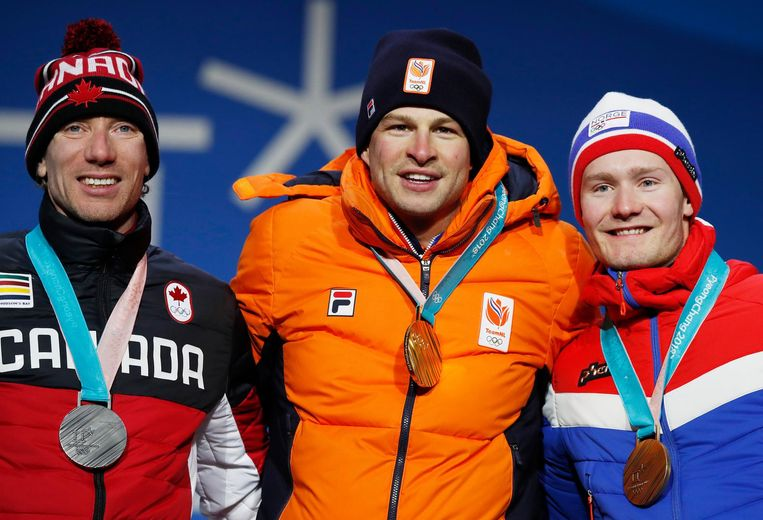 Kramer (goud) en Pedersen (brons) stonden op de Spelen samen op het podium op de 5 kilometer. Beeld epa