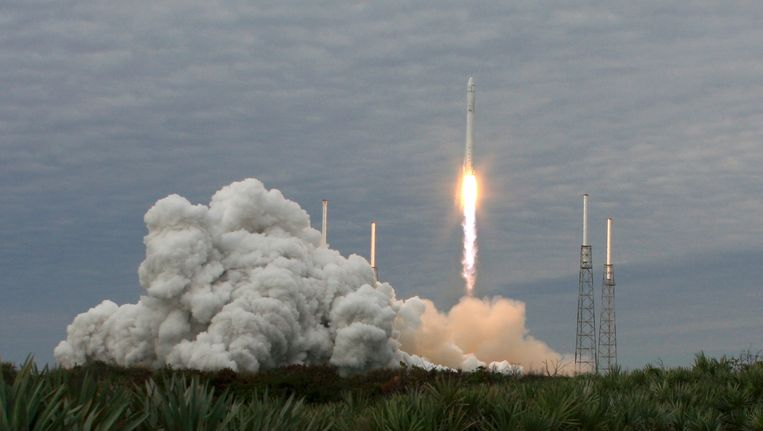 Een eerdere, geslaagde lancering van een Falcon 9-raket, afgelopen maart. Beeld REUTERS