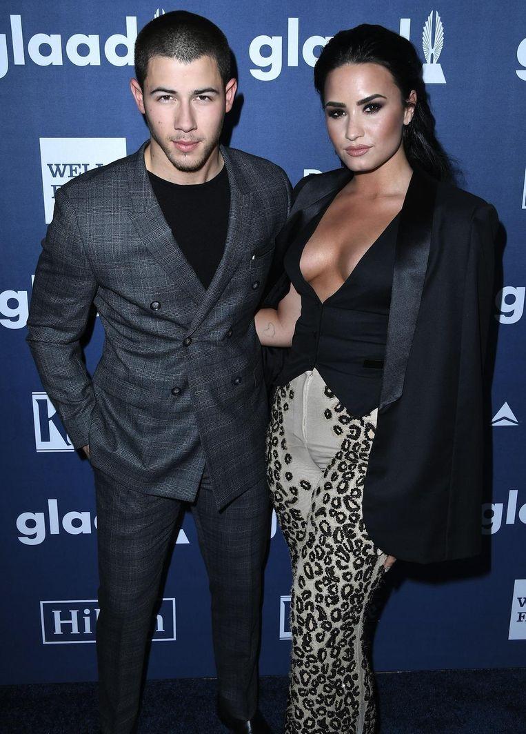 Nick Jonas en Demi Lovato.