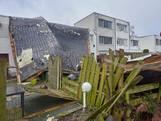 Na de storm volgt het puin ruimen: 'Straks wordt er zeil over het beton gelegd'