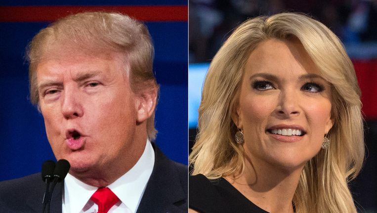 Donald Trump en Megyn Kelly. Beeld null