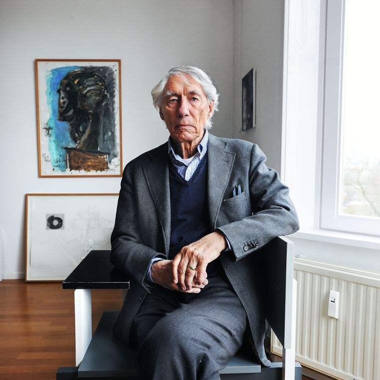 Wim Crouwel in 2011. Beeld Guus Dubbelman / de Volkskrant - geëmbed van de Volkskrant