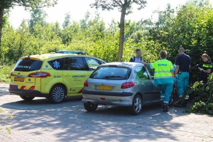 De Rapid Responder en één van de voertuigen die in botsing kwamen met elkaar.