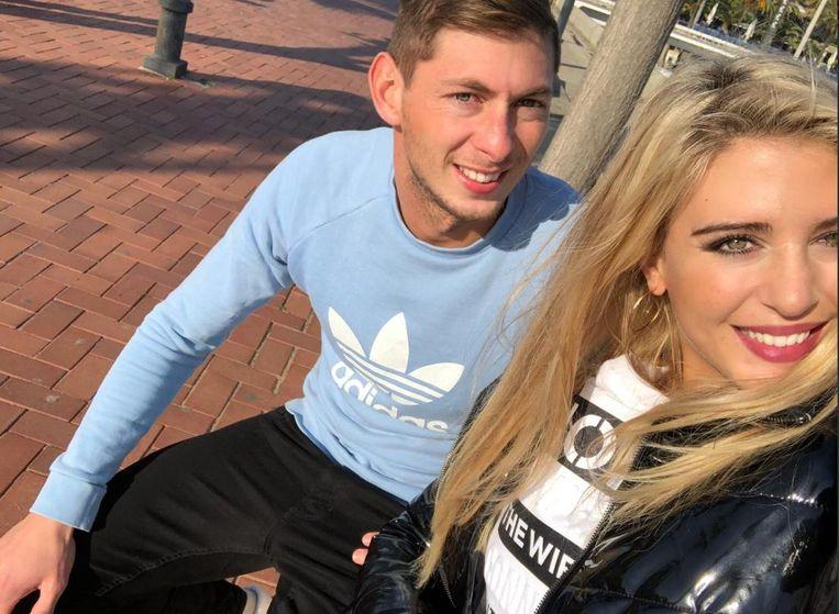 Emiliano Sala en zijn ex-vriendin Berenice Schkair