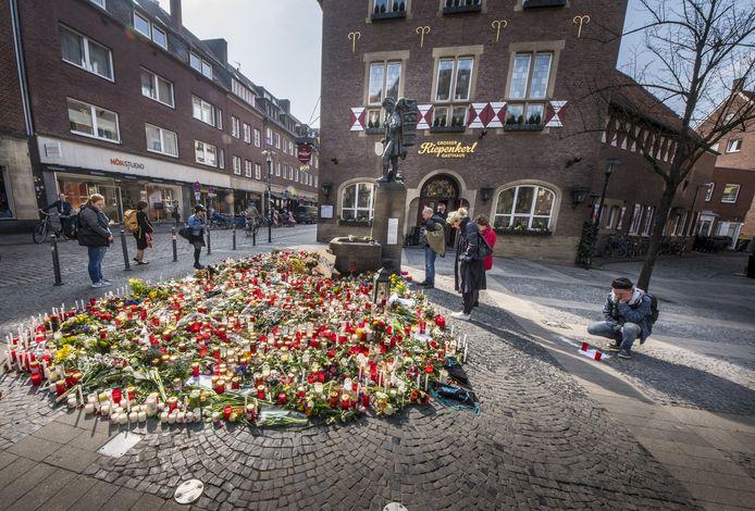 Bloemen na de aanslag in Münster