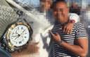 Donovan A. pronkte met zijn Breitling-horloge op Instagram.