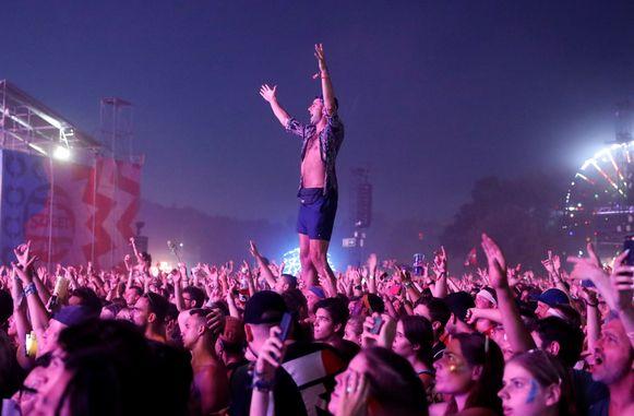 Festivalpubliek op Sziget in Boedapest. Het festival is ook populair bij Belgen en Nederlanders.