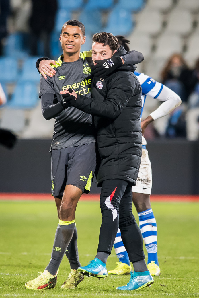 Cody Gakpo was de grote man bij De Graafschap - Jong PSV.