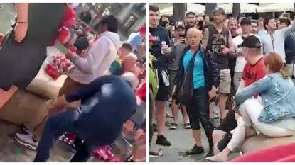 Liverpool-fans misdragen zich in Barcelona: toerist in fontein geduwd en racistisch bejegend