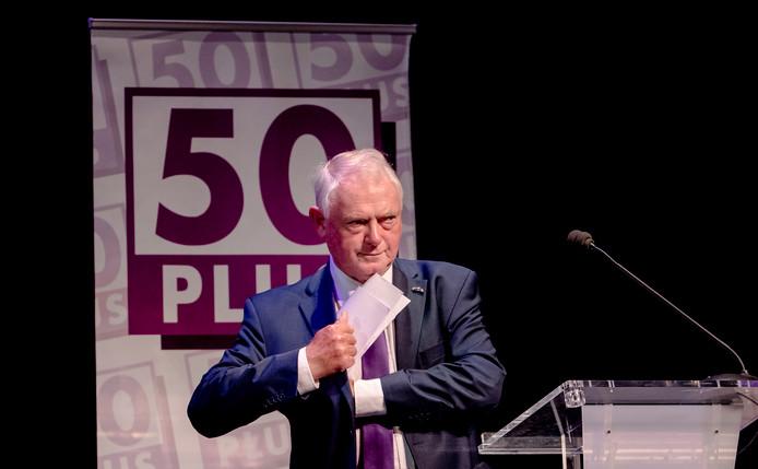 Jan Nagel bij de algemene ledenvergadering van 50PLUS.