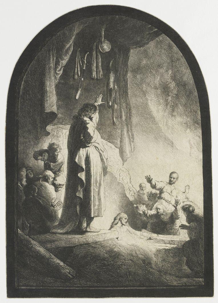 Rembrandt van Rijn, De opwekking van Lazarus, circa 1630, Rijksmuseum Beeld