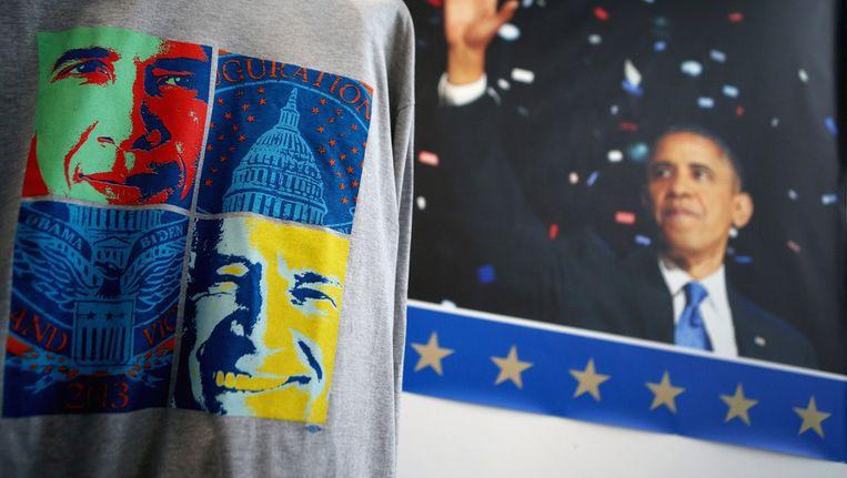 T-shirts met de beeltenis van Obama. Beeld afp