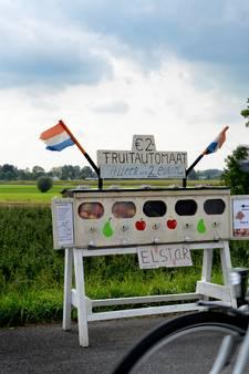 Familie in Hagestein verkoopt appels met zelfgemaakte fruitautomaat
