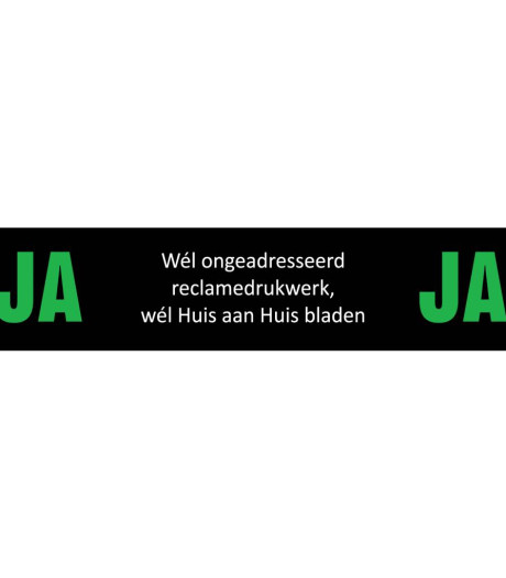 Folders blijven nog even: vooralsnog geen Ja/Ja-sticker in Den Bosch