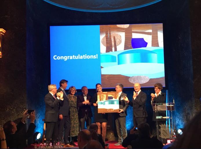 Vertegenwoordigers van de Rotterdamse haven ontvangen de ESPO Award