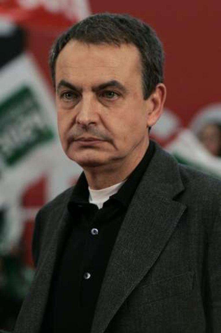 De Spaanse premier José Luis Rodriguez Zapatero.