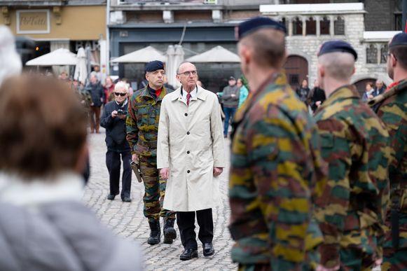 Liers burgemeester Frank Boogaerts (N-VA) richtte een woord van dank aan de militairen.