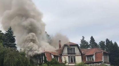 Brandstichting in leegstaande villa