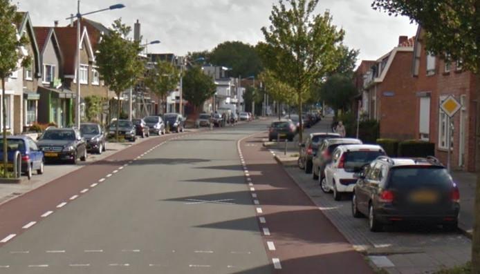 Plek op de Axelsestraat in Terneuzen waar het ongeluk gebeurde.