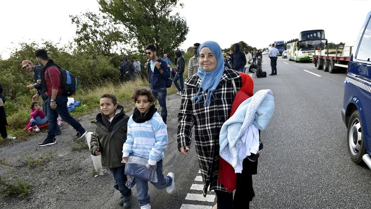 Vluchtelingen in Denemarken. Beeld afp