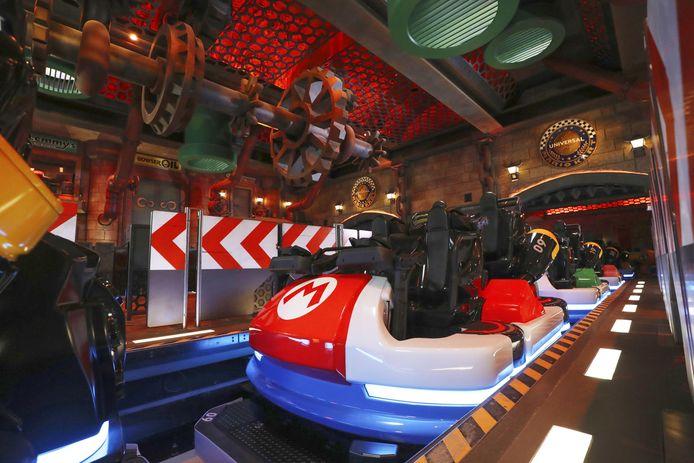 Het Mario Kart Station in Universal Studios Japan, Osaka.