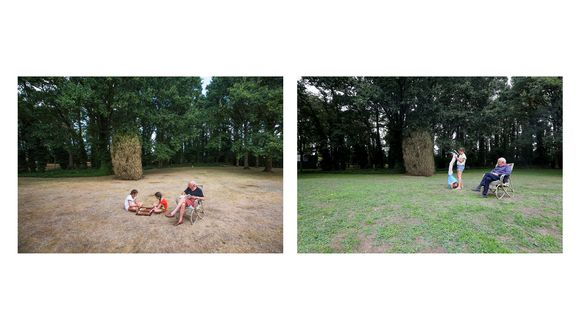 Tijdens en na de droogte in Lummen.