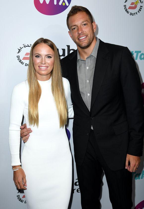 Wozniacki met haar man David Lee.