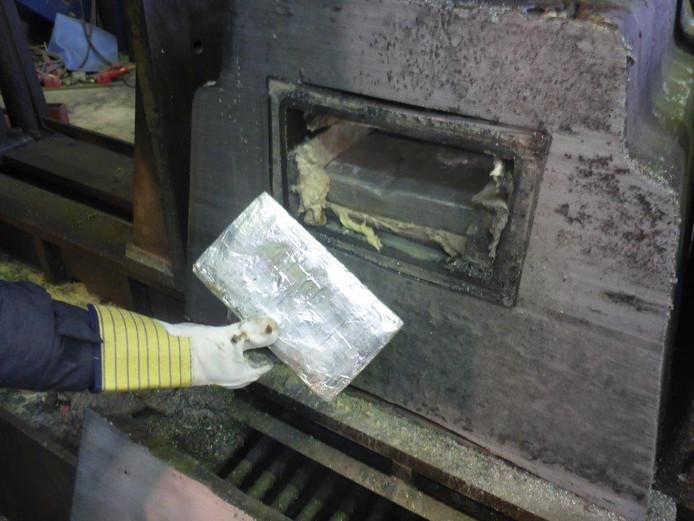 De cocaïne werd gesmokkeld in containers met aluminium blokken.