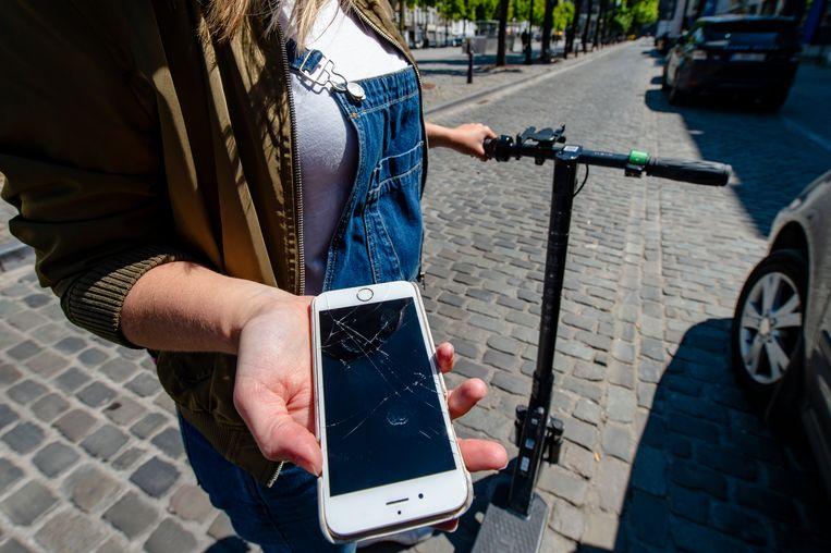 De GSM moest er helaas aan geloven.    ©  Philip Reynaers  / Photonews