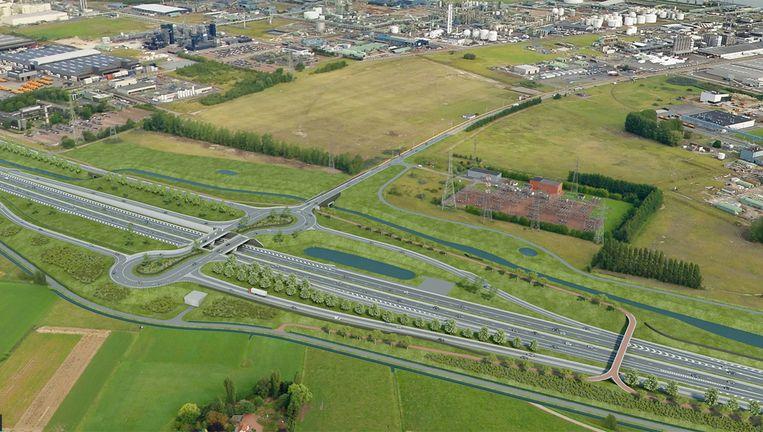Op termijn komt er een gloednieuwe verkeerswisselaar met een aparte fietsbrug over de E34 en een fietstunnel onder de Canadastraat.