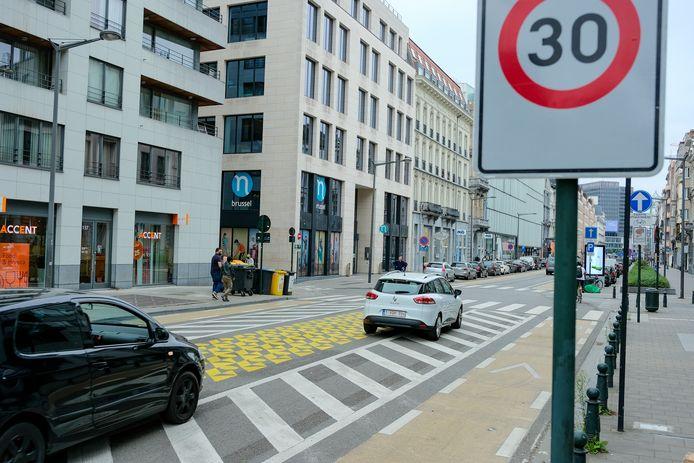 Brussel wordt op 1 januari bijna helemaal zone 30.