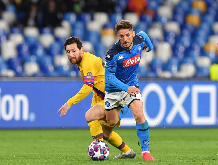 Dries Mertens in duel met Lionel Messi. Haalt 'Ciro' het vanavond van 'De Vlo'?
