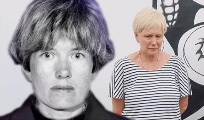 Hilde Van Acker op de Most Wanted Lijst en bij haar arrestatie.