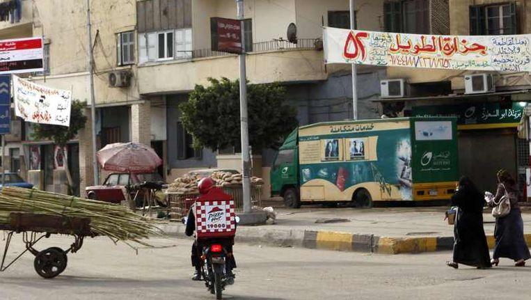 Spandoeken voor het referendum in Egypte. Beeld reuters