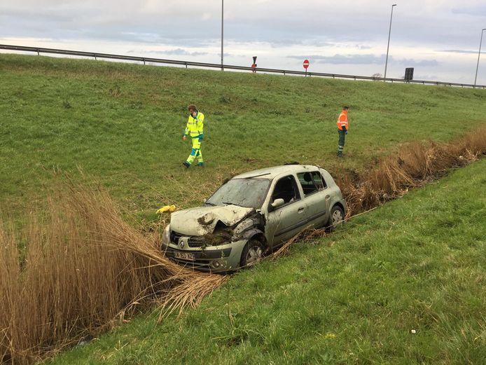 Ongeval E40 in Adinkerke.