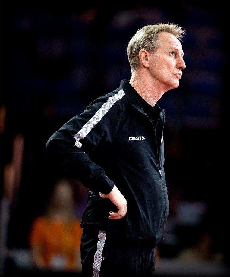 Vincent Wevers tijdens een toernooi in Duitsland. Beeld Klaas Jan van der Weij
