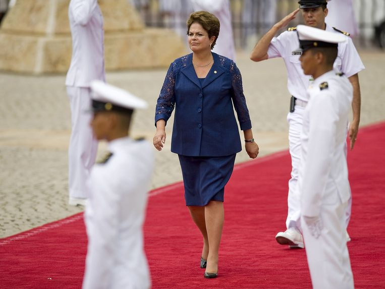 Dilma Rousseff in april 2012 Beeld AFP
