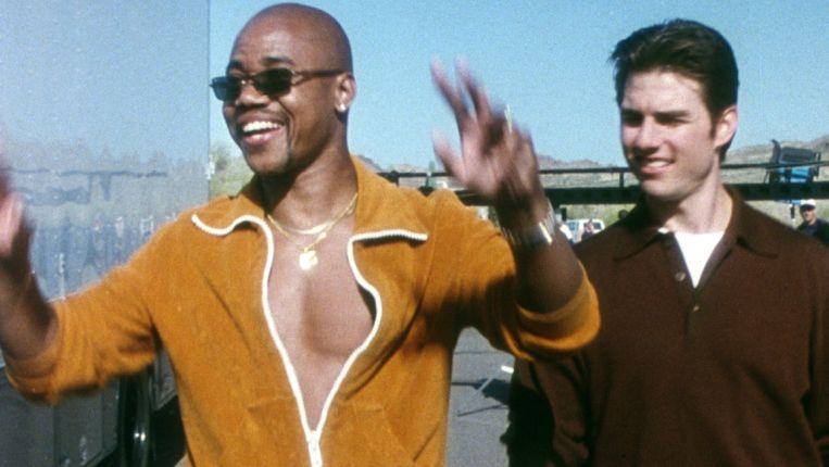 Cuba Gooding Jr. (links) en Tom Cruise in Jerry Maguire van Cameron Crowe. Beeld